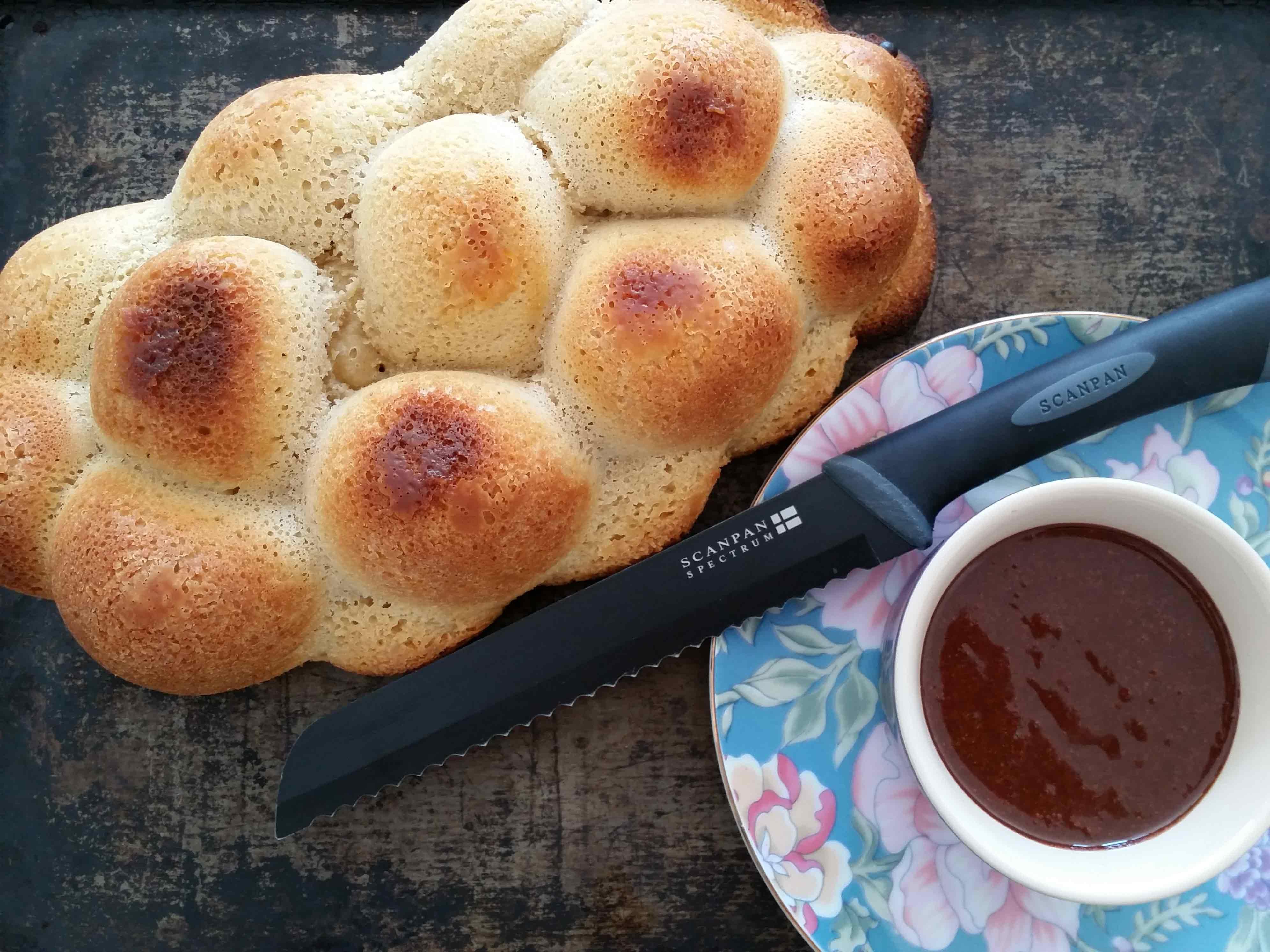 Crunchy Chocolate Hazelnut Spread with Challah