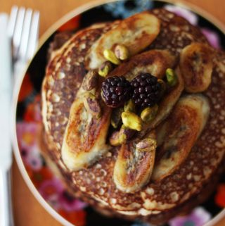 Fluffy gluten free Protein Pancakes