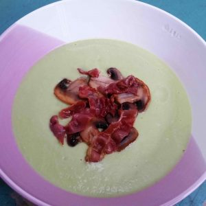 Silky Avocado Leek Soup