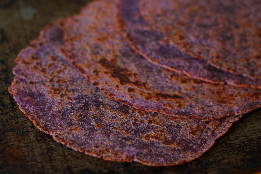 Purple sweet potato flatbread