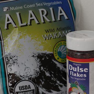 Wakame and dulse seaweed