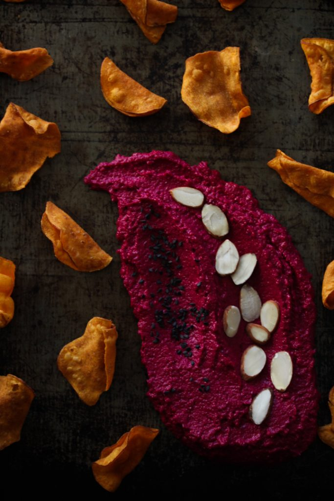 Spiced Beetroot hummus