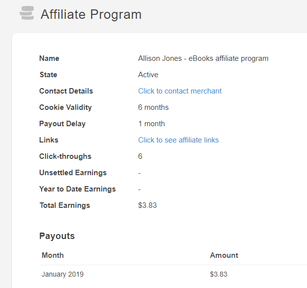 Affiliate screenshot 1