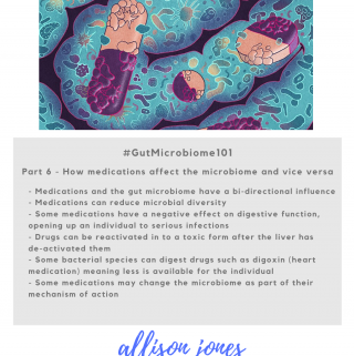 Gut Microbiome 101 Part 6 graphic with summary points