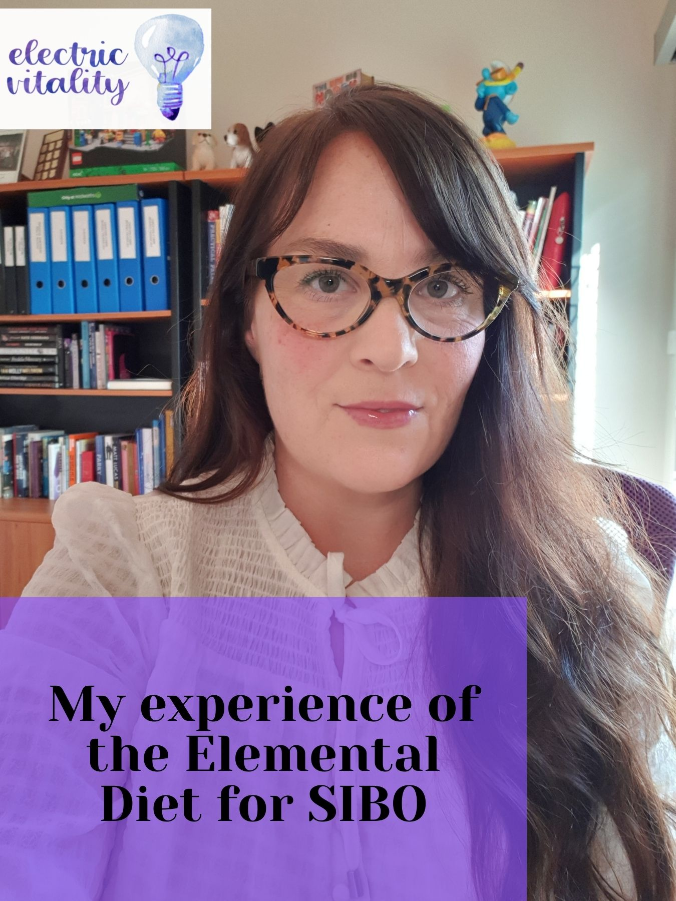 Image of Allison Jones with text overlay - My experience of the Elemental Diet for SIBO